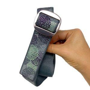 REI Bison Designs D- Ring Floral Manzo Belt Sz S